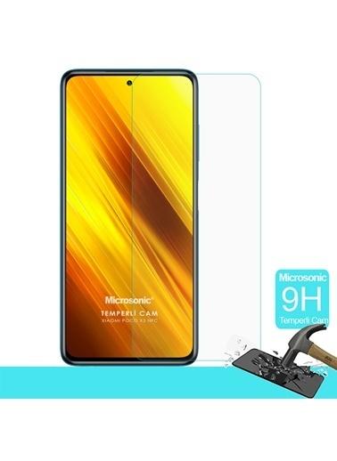 Microsonic Xiaomi Poco X3 Pro Tempered Glass Cam Ekran Koruyucu Renksiz